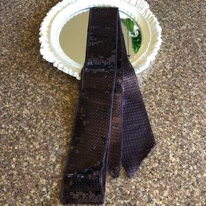 Goody's Chocolate Brown Sheer Sequin Scarf